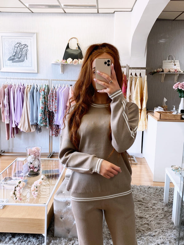 beige co-ord