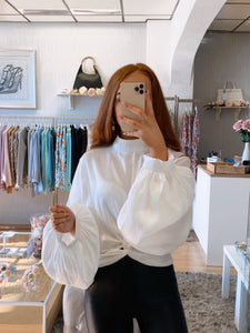 puff sleeve blouse white