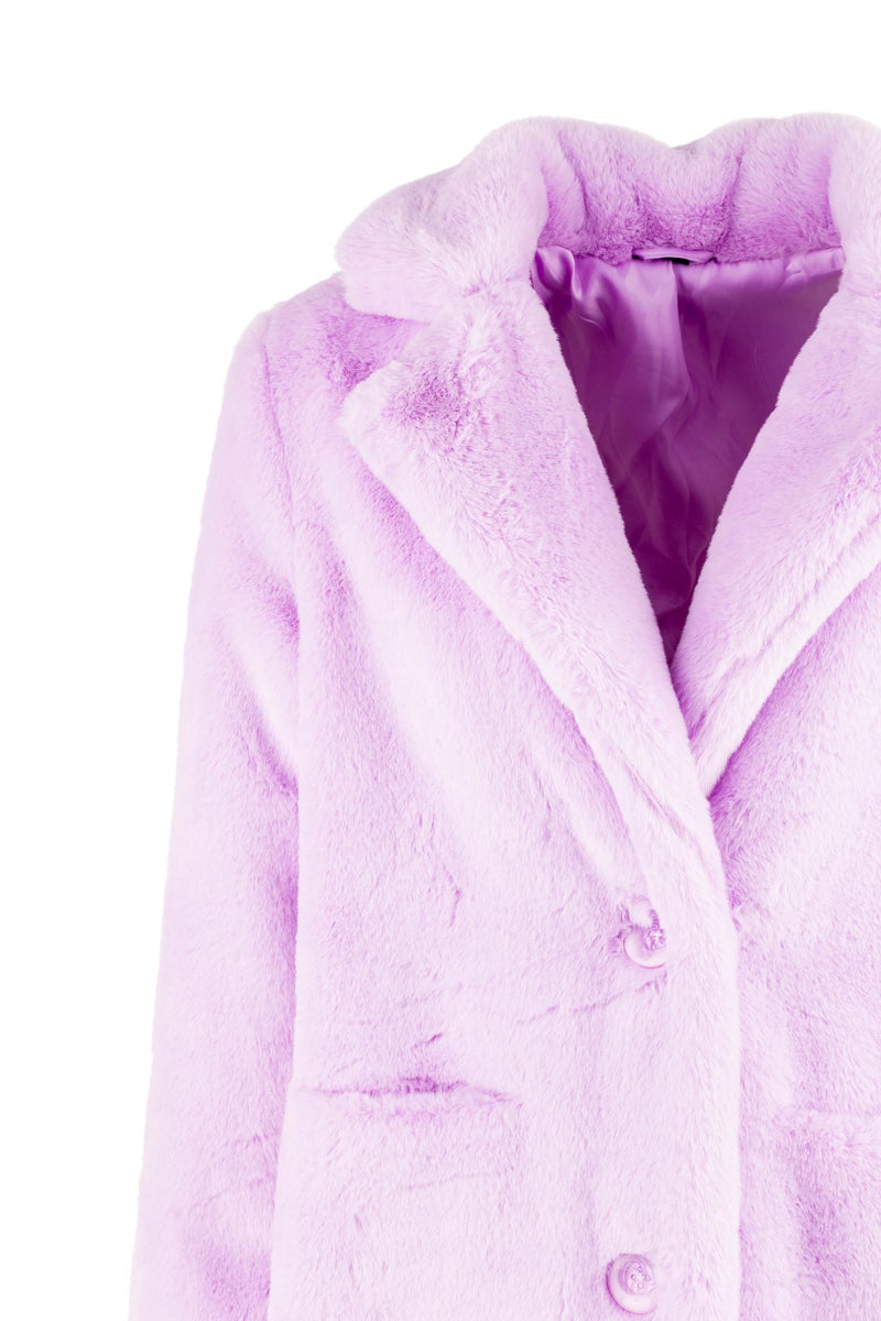faux fur coat for AW20 in lilac