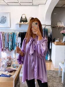 lilac oversized blouse