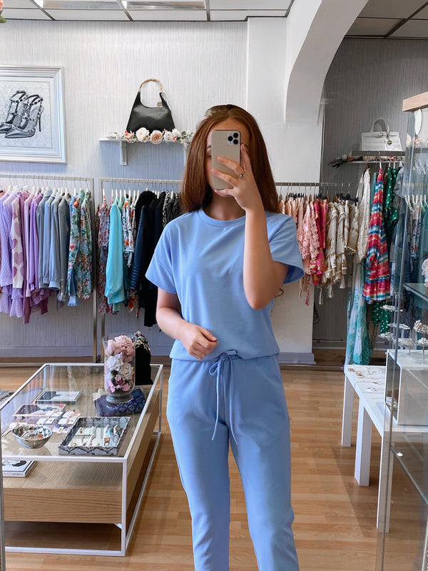 baby blue tracksuit