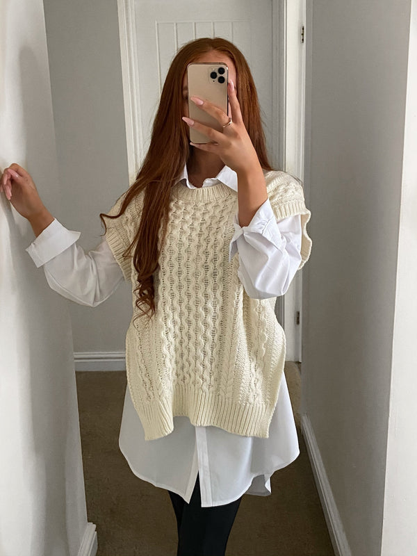 two-piece-shirt-knitted-vest-cream