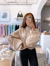 Load image into Gallery viewer, puff sleeve blouse beige