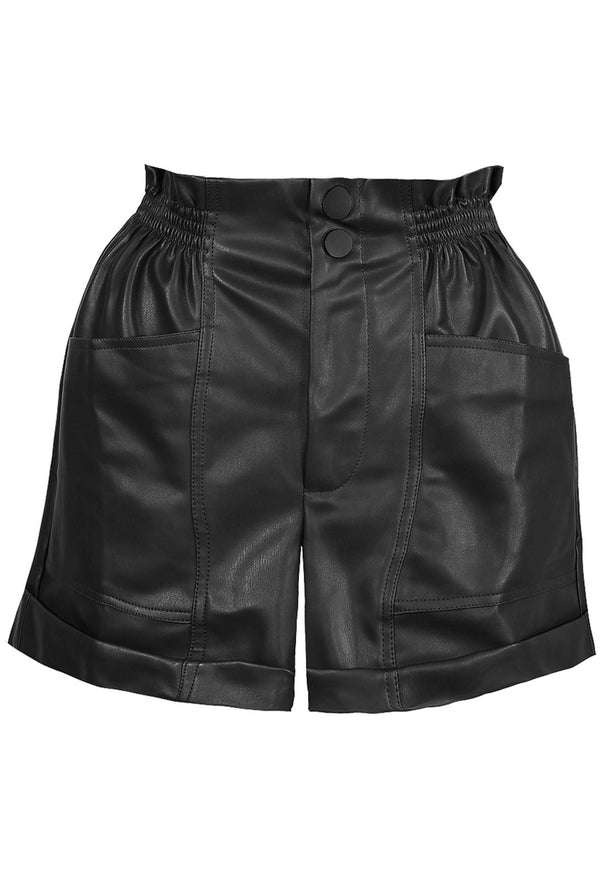 pu leather shorts
