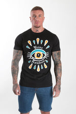 All seeing eye Rose Tee Black - Rose London