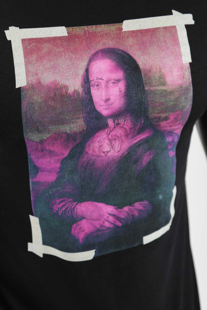 Black Mona Lisa Tee - Rose London