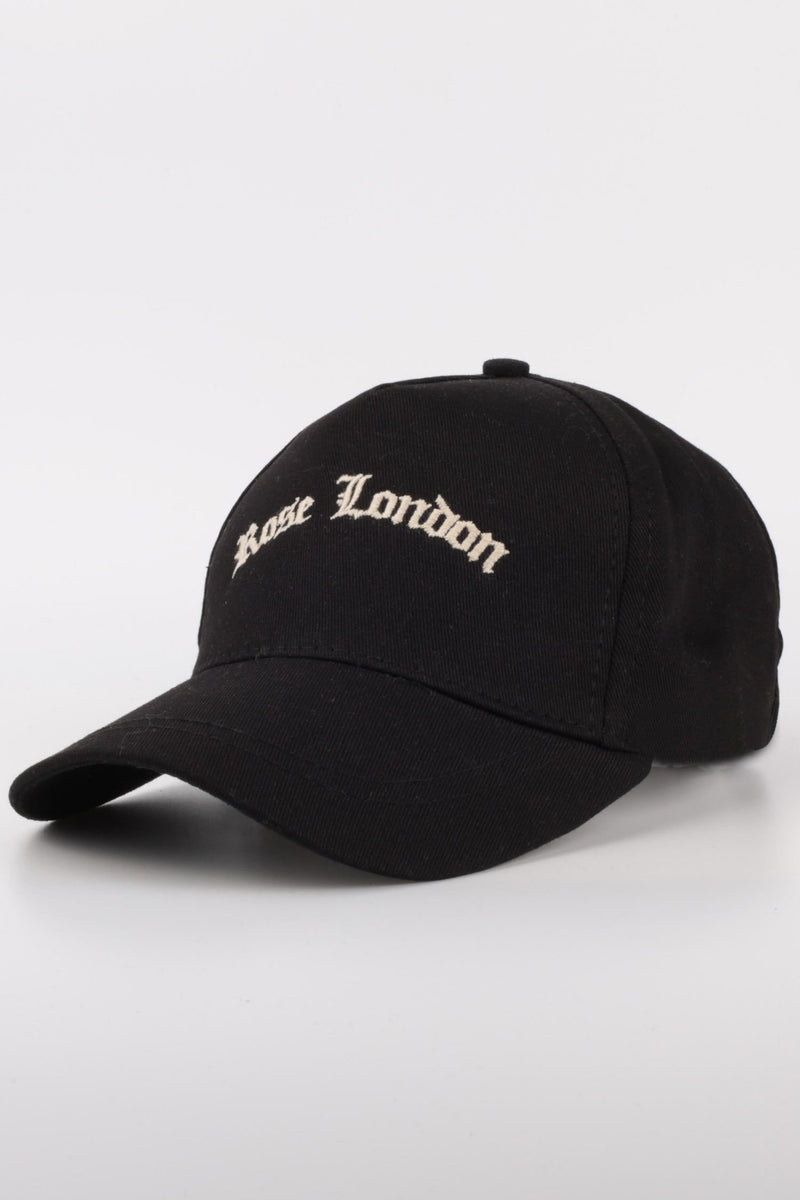 Black Old English Script Arch Cap - Rose London
