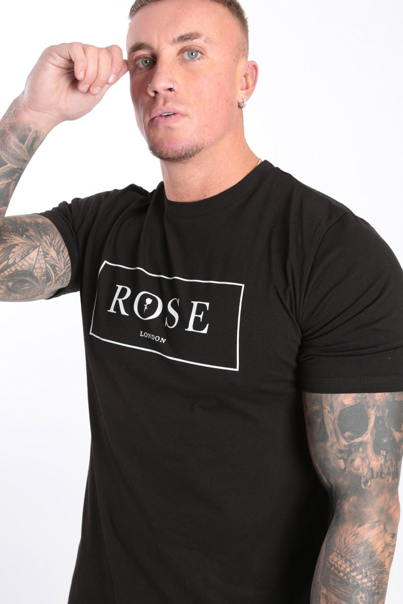Box Outline T-shirt Black - Rose London