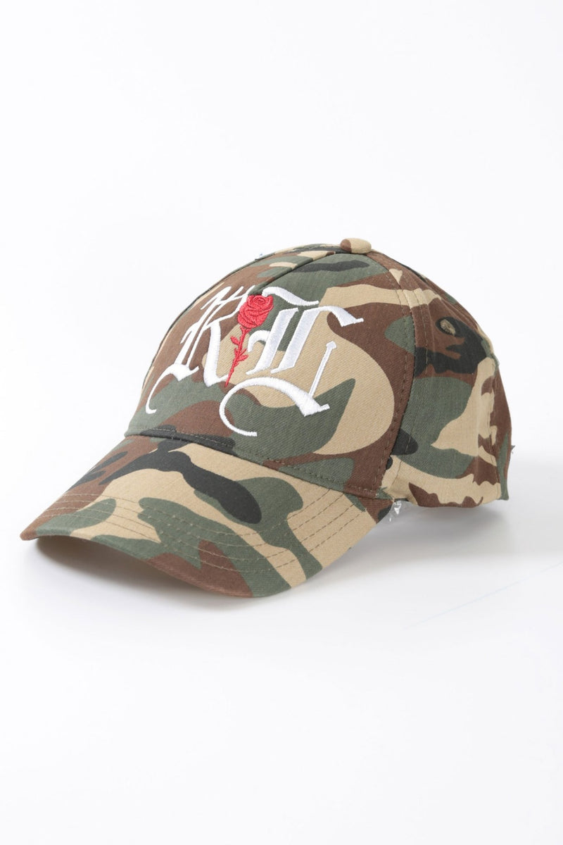 Camo Old English Monogram Cap - Rose London