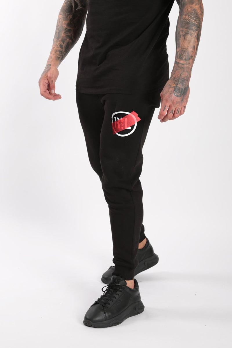 Circular Tape Jogger Black - Rose London