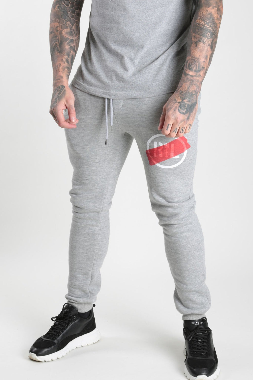 Circular Tape Jogger Grey Marl - Rose London