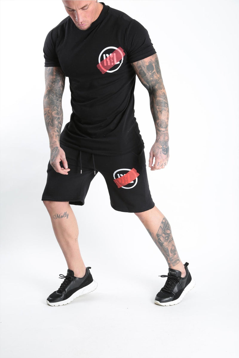 Circular Tape Short Black - Rose London