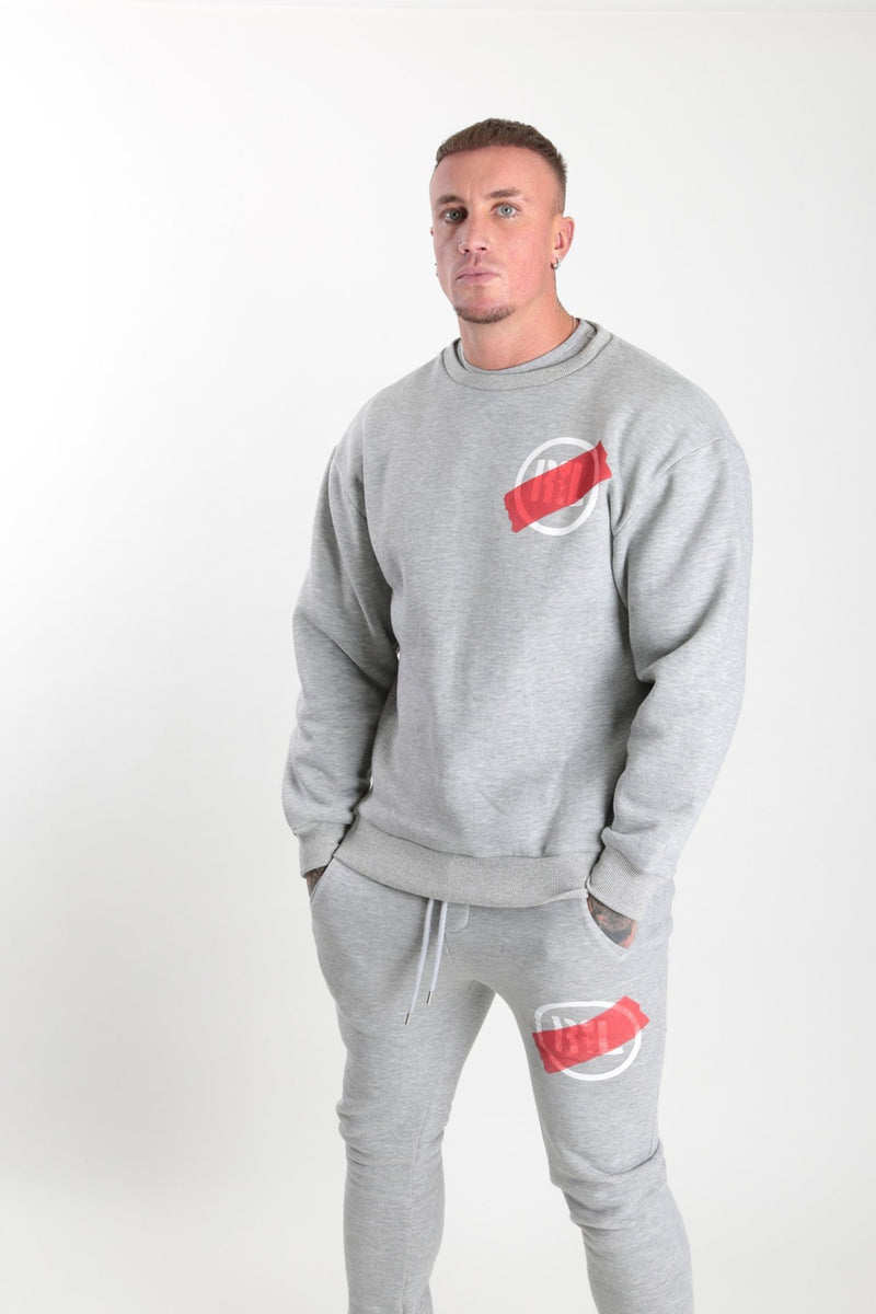 Circular Tape Sweatshirt Grey Marl - Rose London