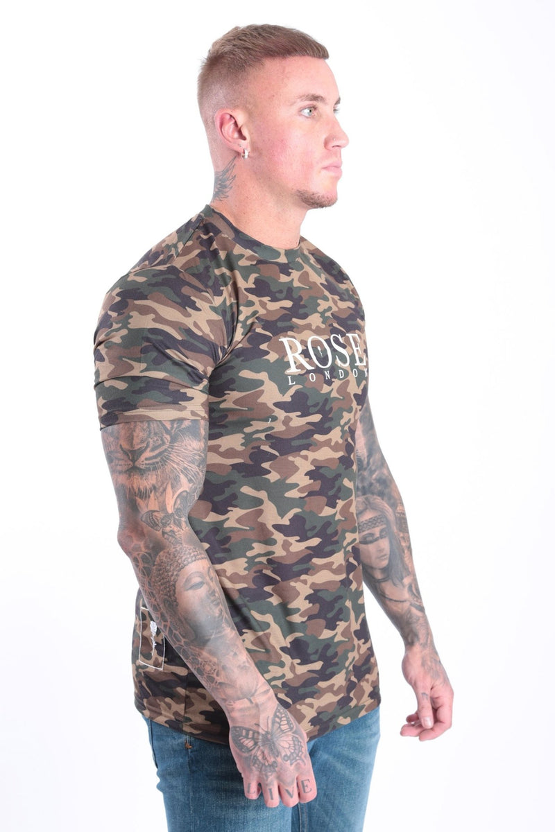 Classic Camo T-shirt Camo - Rose London