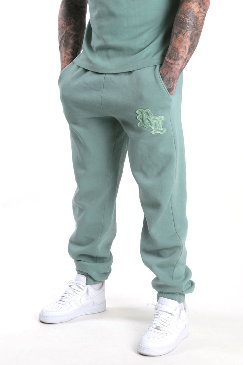 Extreme oversize RL monogram joggers Sage - Rose London