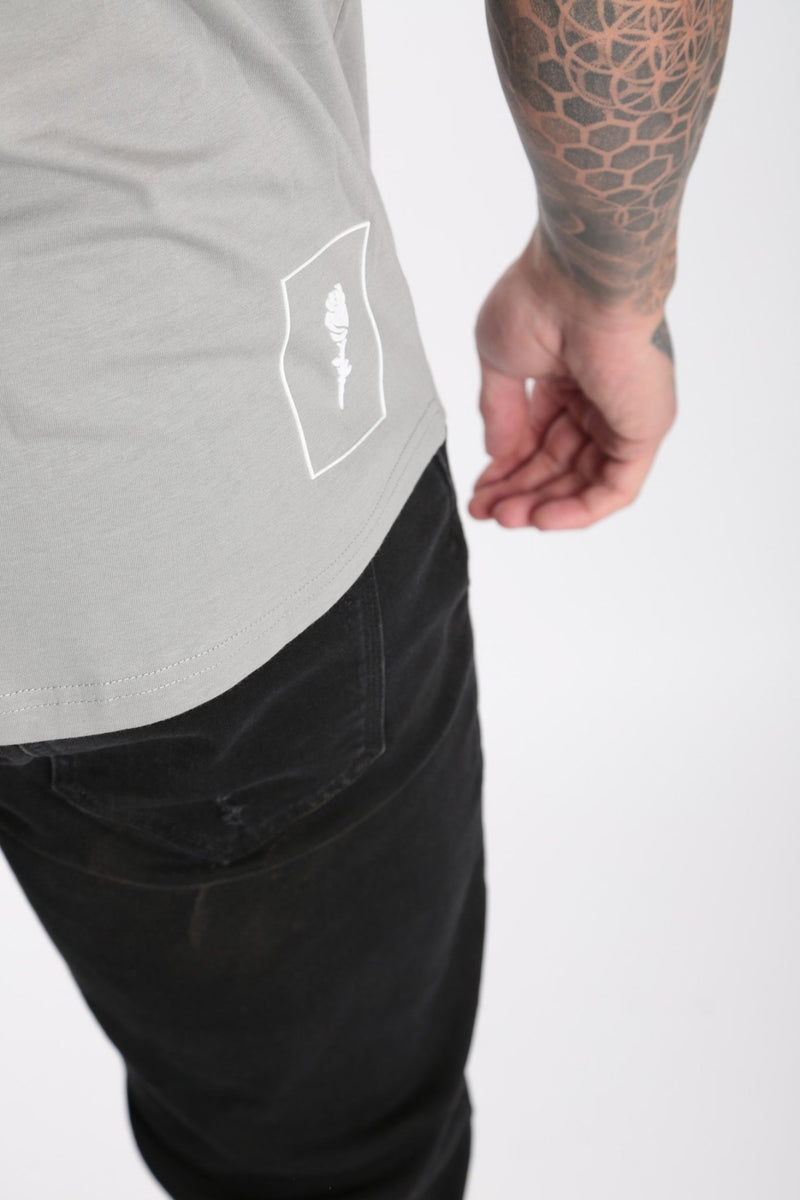 Injection Tee Flat Grey - Rose London