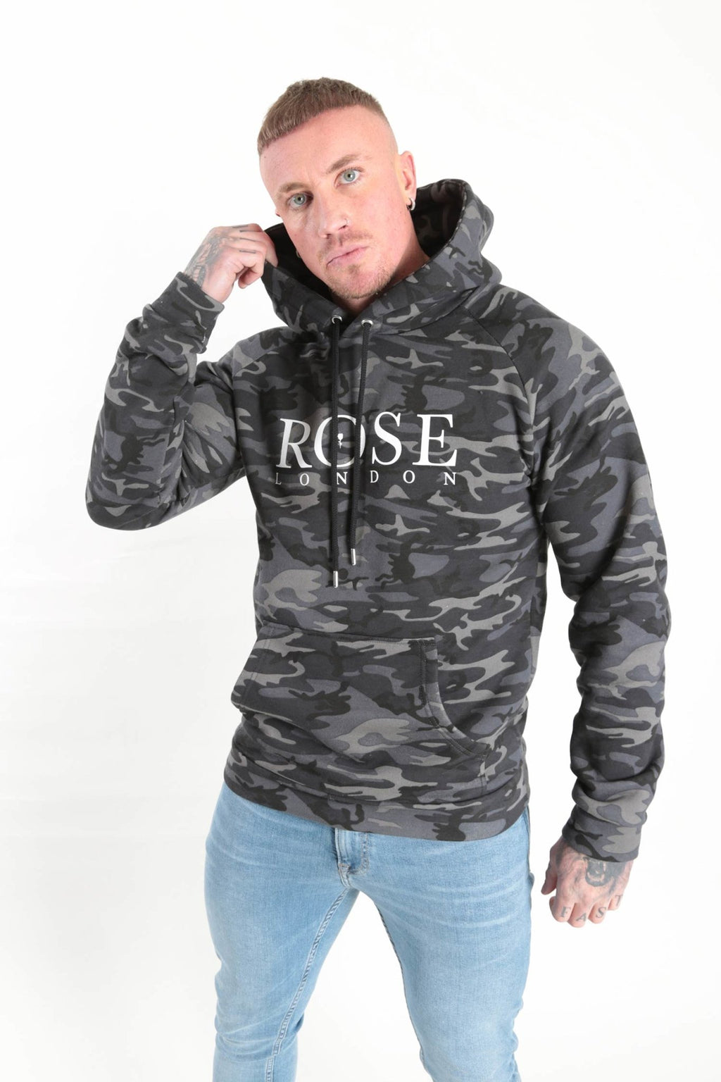 Monochrome Camo Hood Camo - Rose London