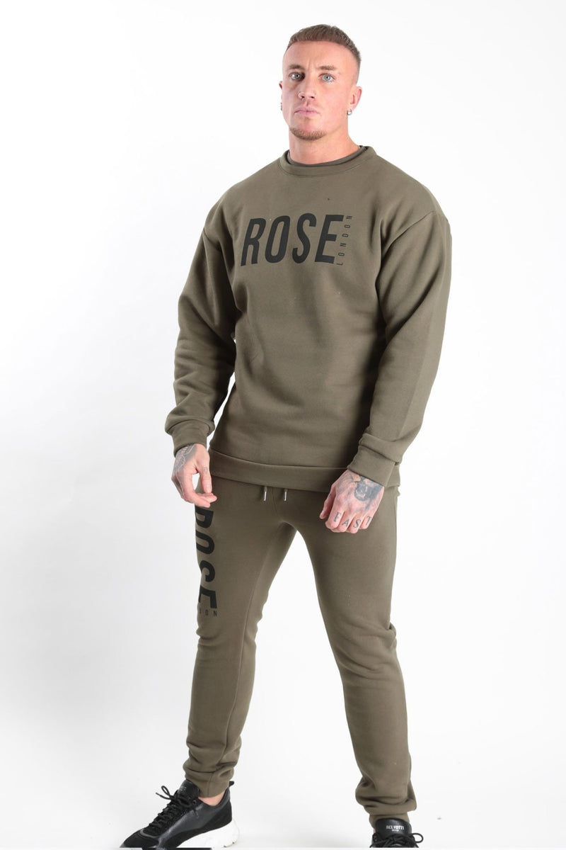 Rose Basic Logo Jogger Khaki - Rose London