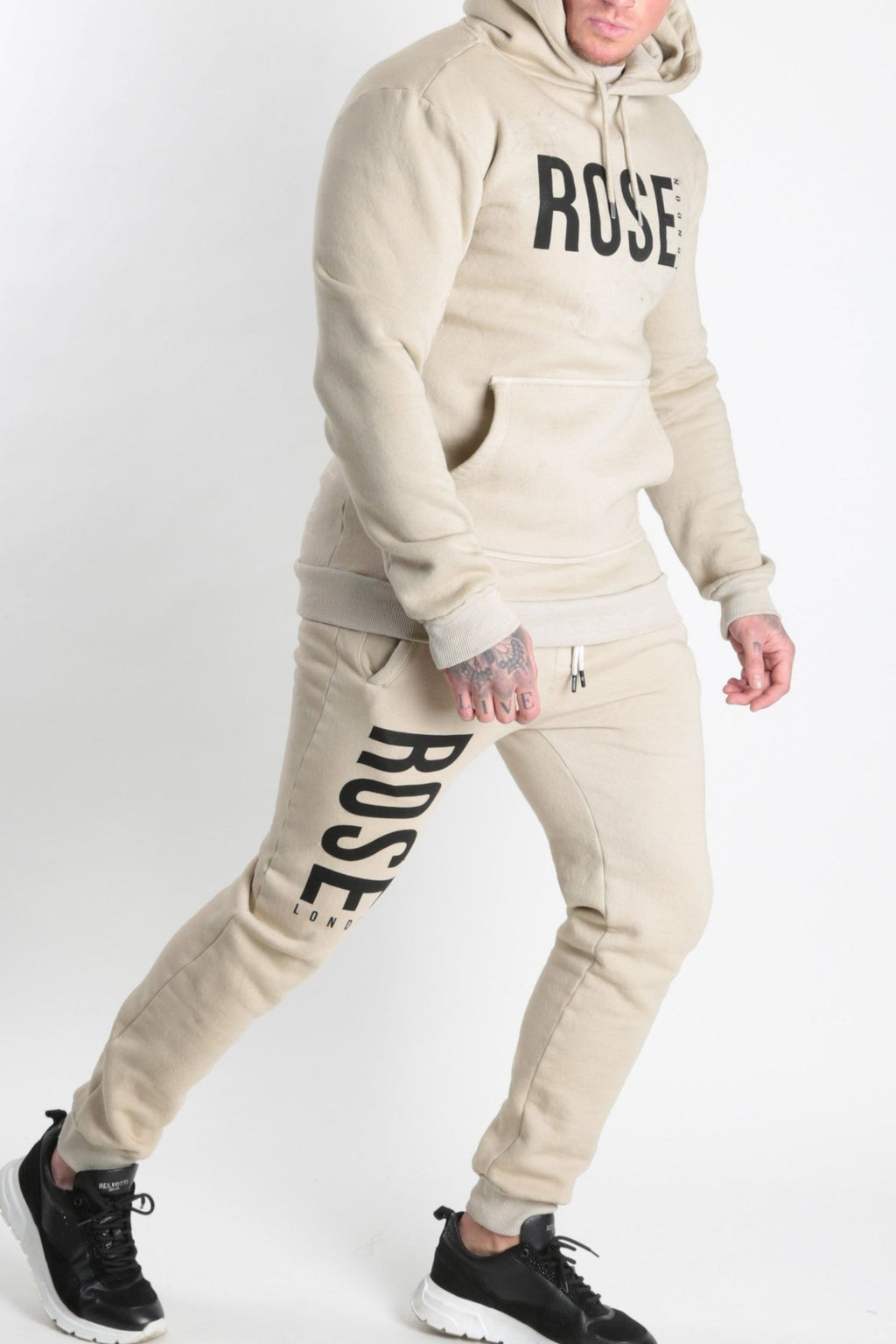 Rose Basic Logo Jogger Stone - Rose London