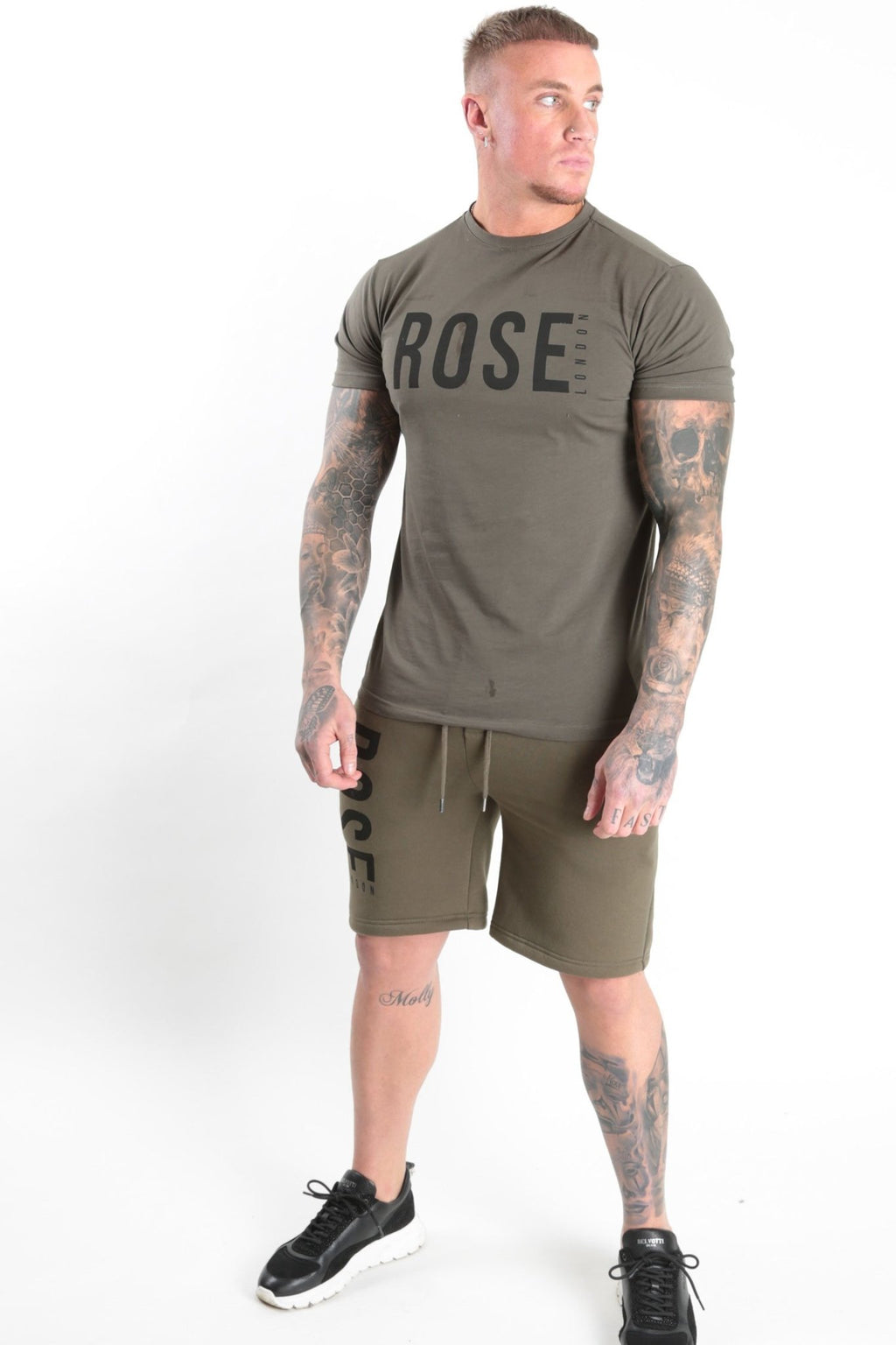Rose Basic Logo Short Khaki - Rose London