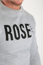 Rose Basic Logo Sweatshirt Grey Marl - Rose London