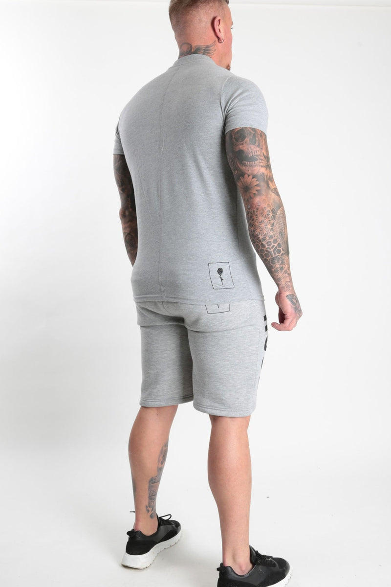 Rose Basic Logo T-shirt Grey Marl - Rose London
