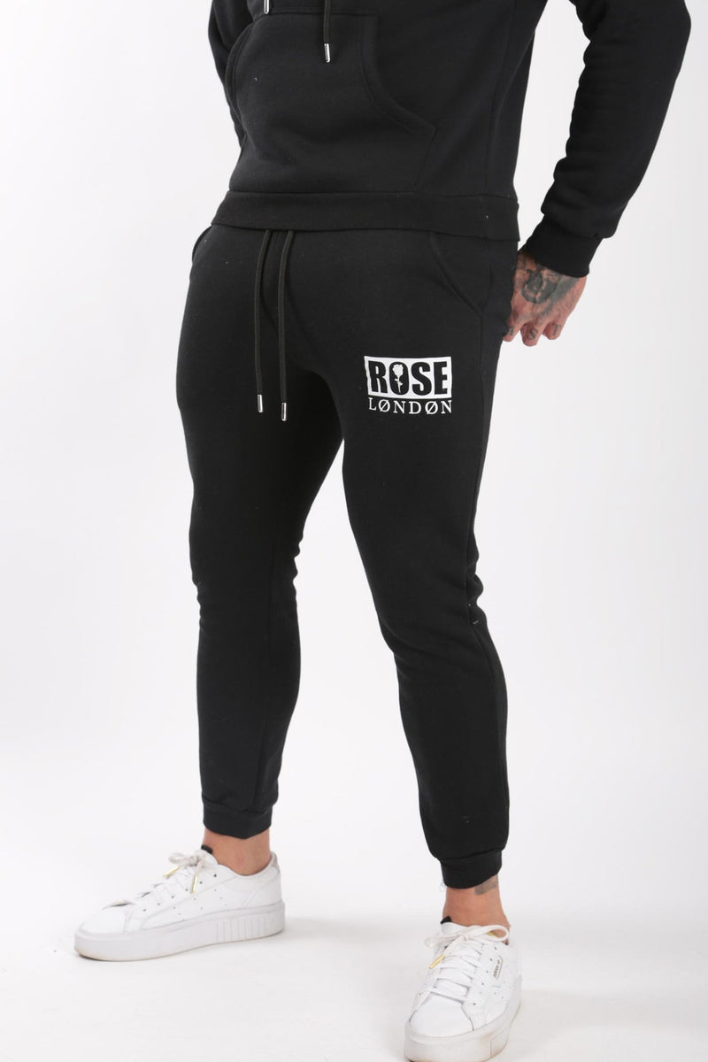Rose London Box Logo Jogger Black - Rose London