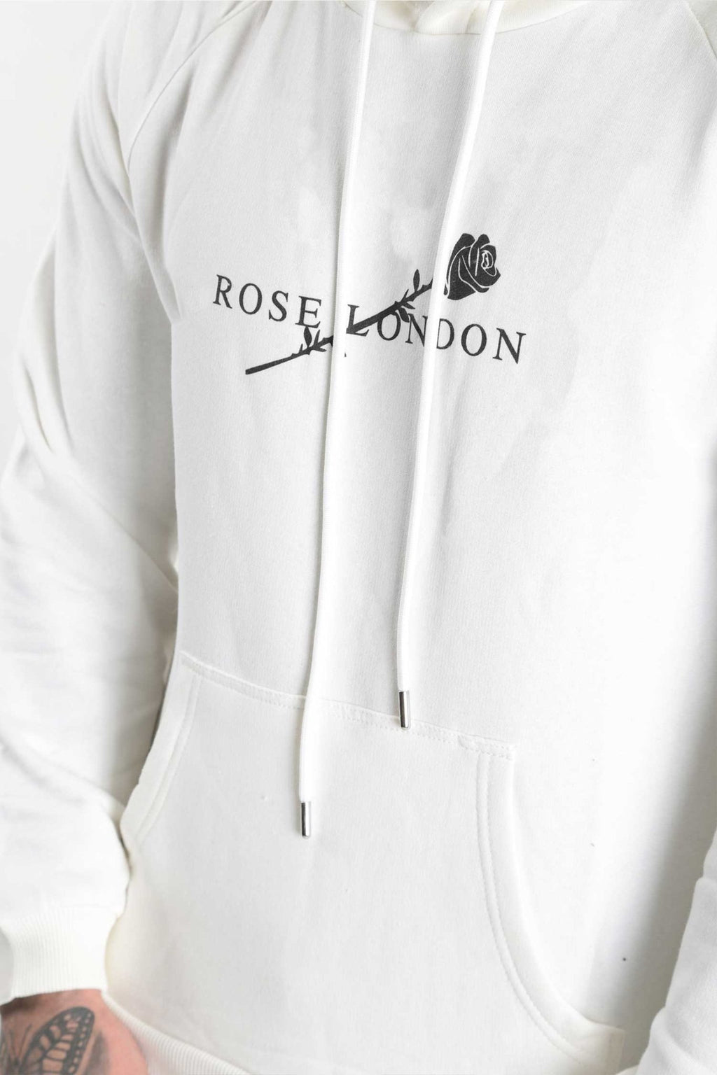Rose London Brand Hoody Off White - Rose London