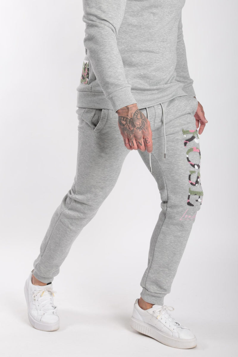Rose London Chenille Embroidery Sweatshirt Grey - Rose London