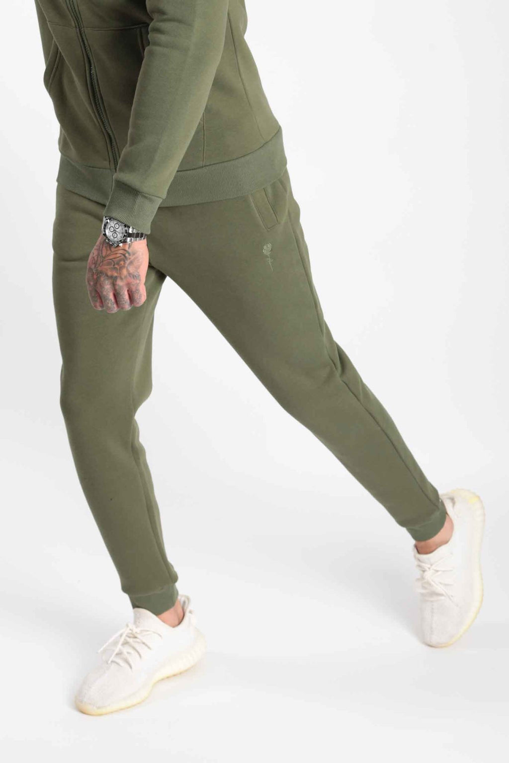 Rose London Core Cuffed Jogger Dark Khaki - Rose London