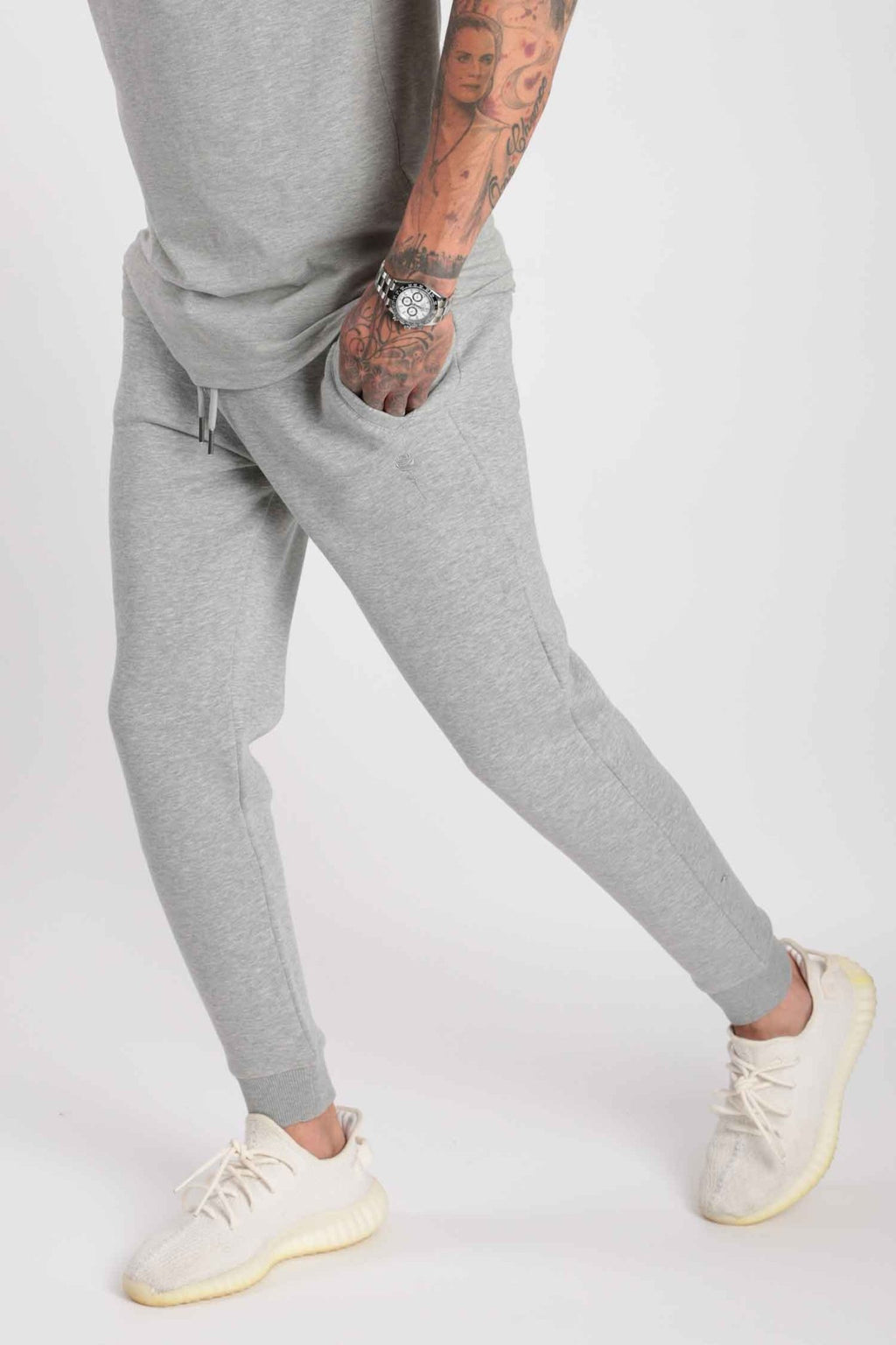 Rose London Core Cuffed Jogger Marl Grey - Rose London