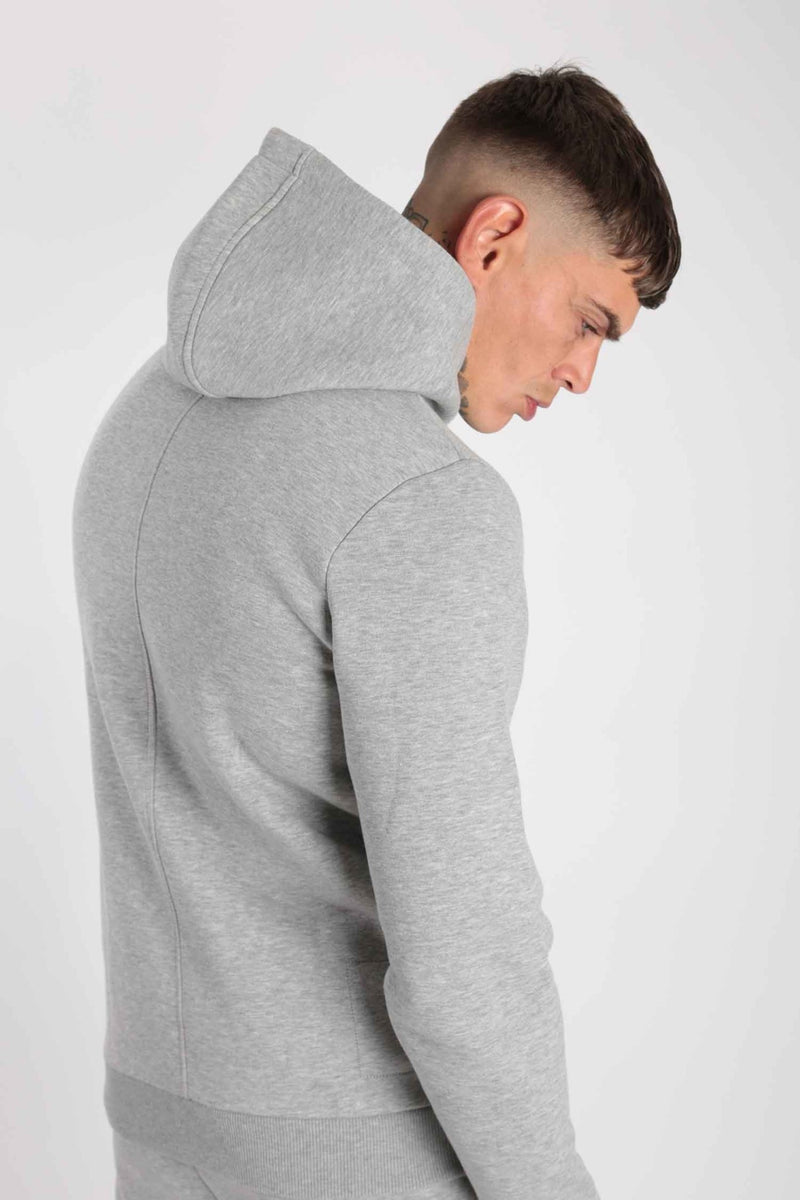 Rose London Core Pull Over Hood Marl Grey - Rose London