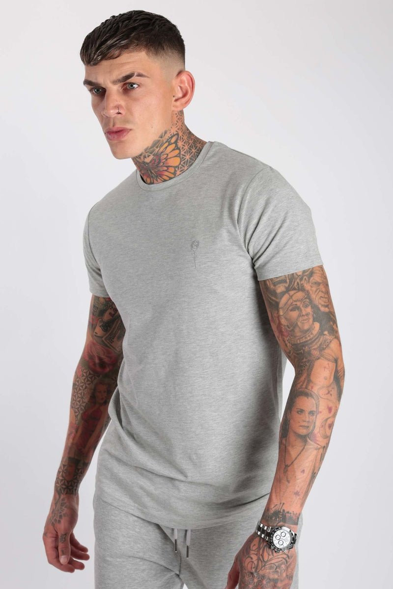 Rose London Core T-Shirt Marl Grey - Rose London