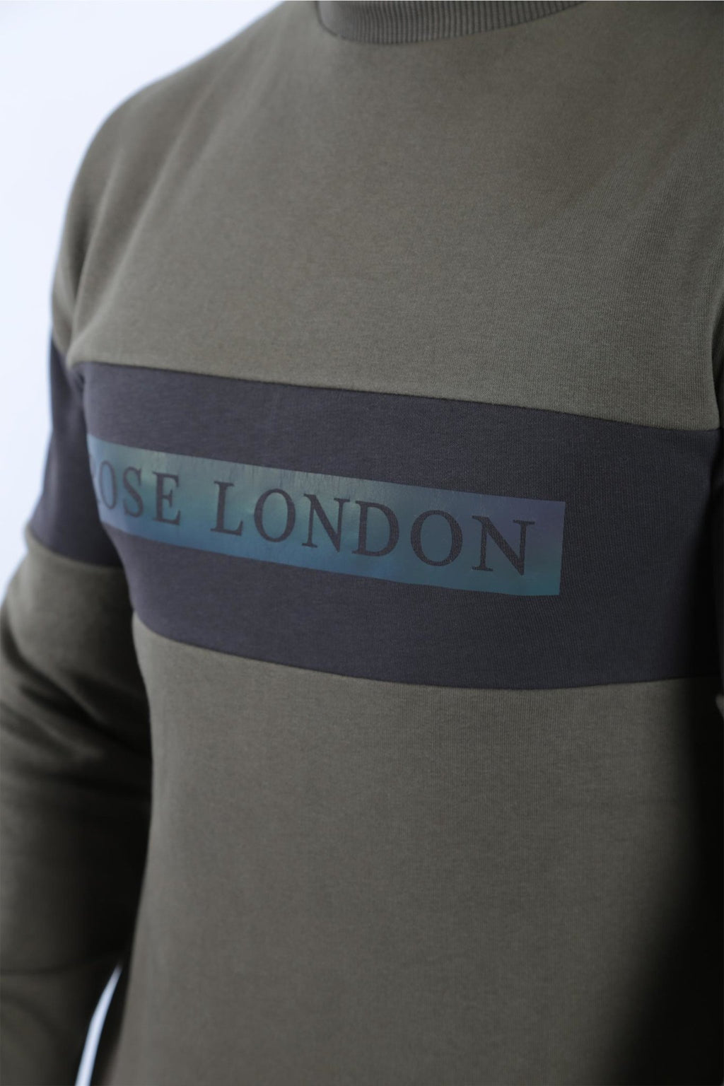 Rose London Iridescent Print Sweatshirt Khaki - Rose London
