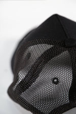 Rose London Mesh Back Distressed 3D LA Cap in Black - Rose London
