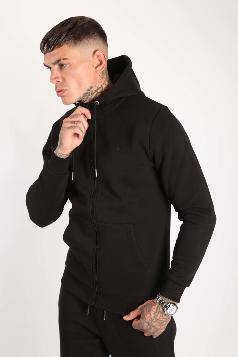 Rose London Plastic Zipped Hood Core Black - Rose London