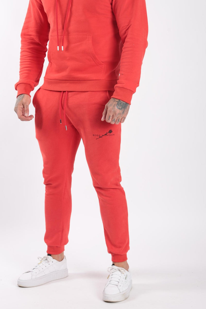Rose London Rose print Jogger Red - Rose London