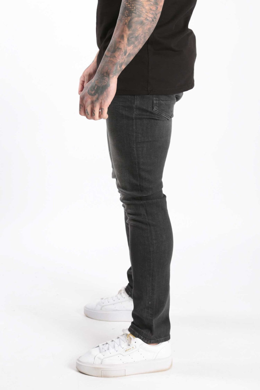 Rose London Slim Black Wash Denim Jeans - Rose London