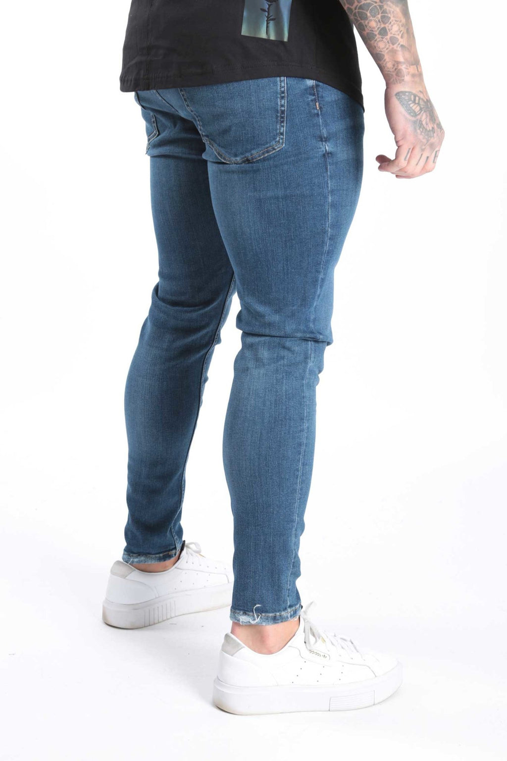 Rose London Slim Dark Blue Wash Denim Jeans - Rose London