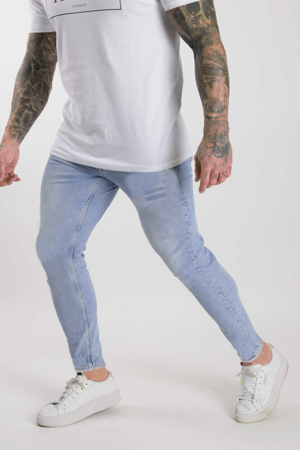 Rose London Slim Denim Jeans Light Wash - Rose London
