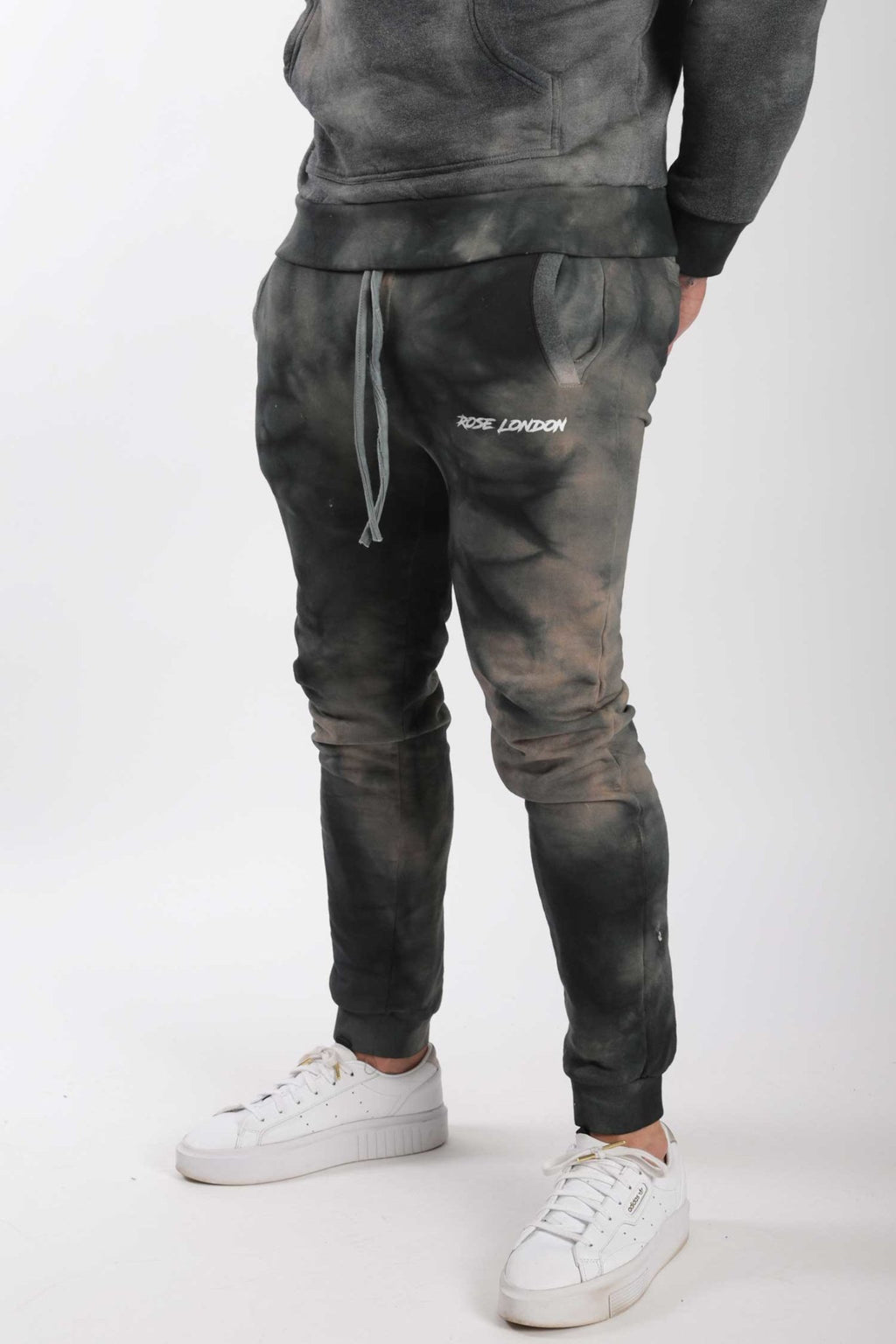Rose London Tie Dye Jogger Black Rust - Rose London