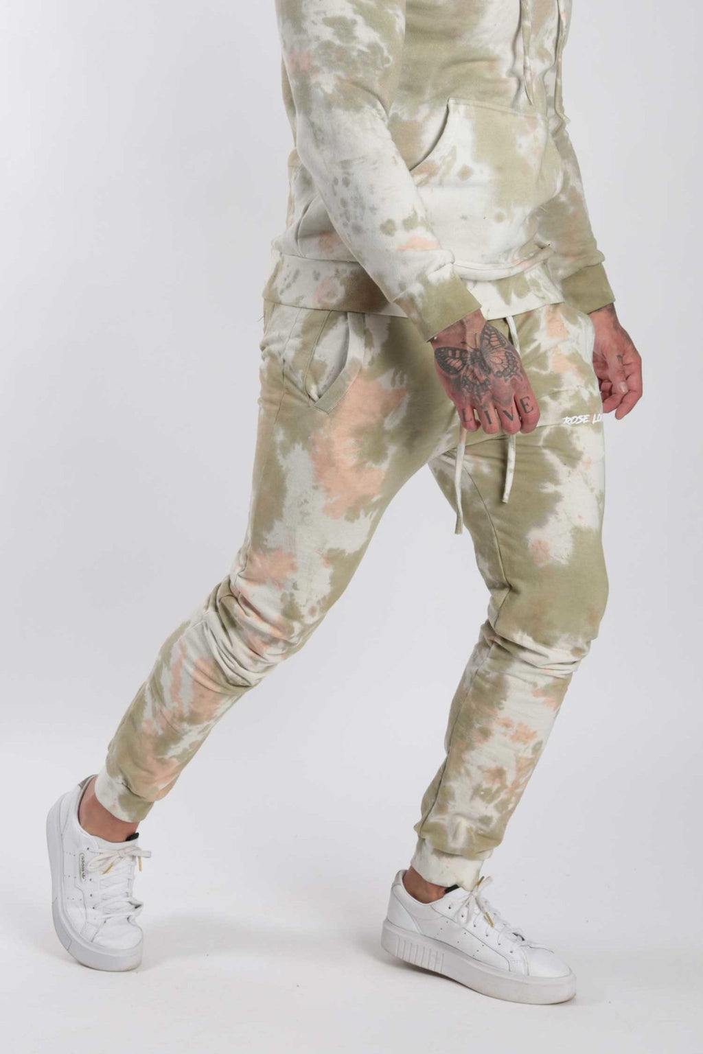 Rose London Tie Dye Jogger Khaki - Rose London