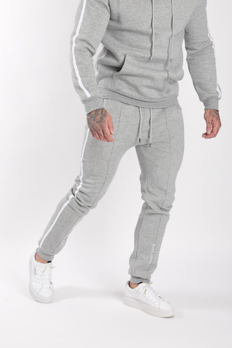 Rose London white contrast classic hoodie Grey - Rose London