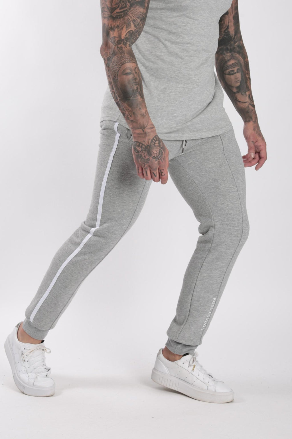 Rose London white contrast classic jogger Grey - Rose London