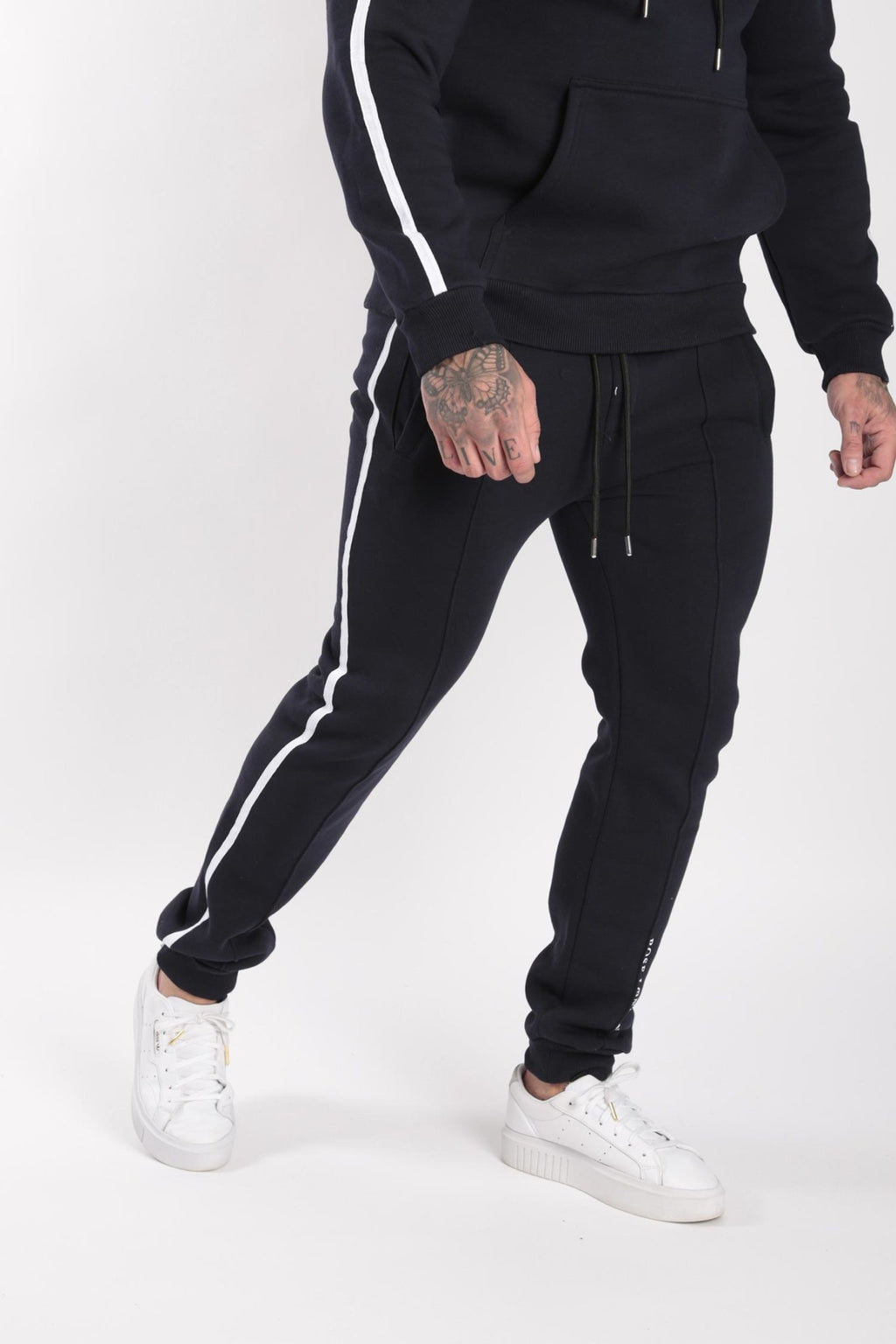 Rose London white contrast classic jogger Navy - Rose London