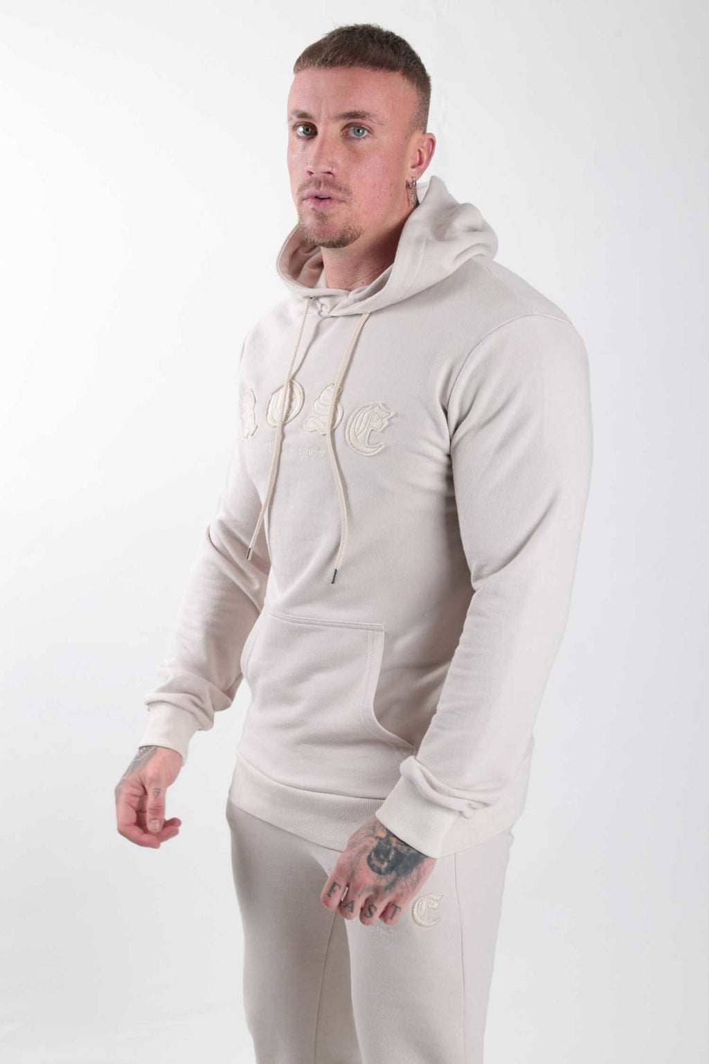 Sand Rose Aplique Hoodie - Rose London
