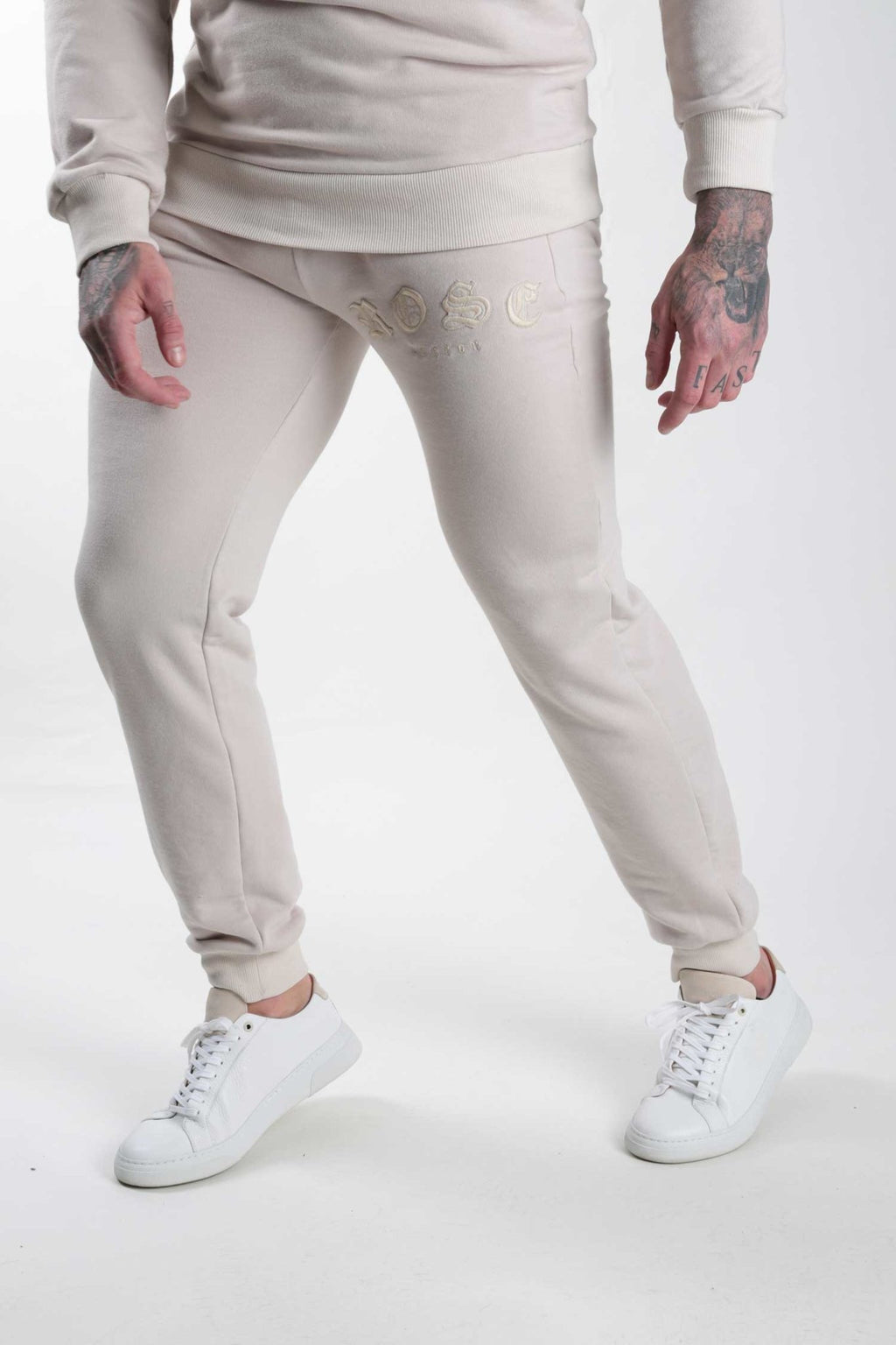 Sand Rose Aplique Jogger - Rose London