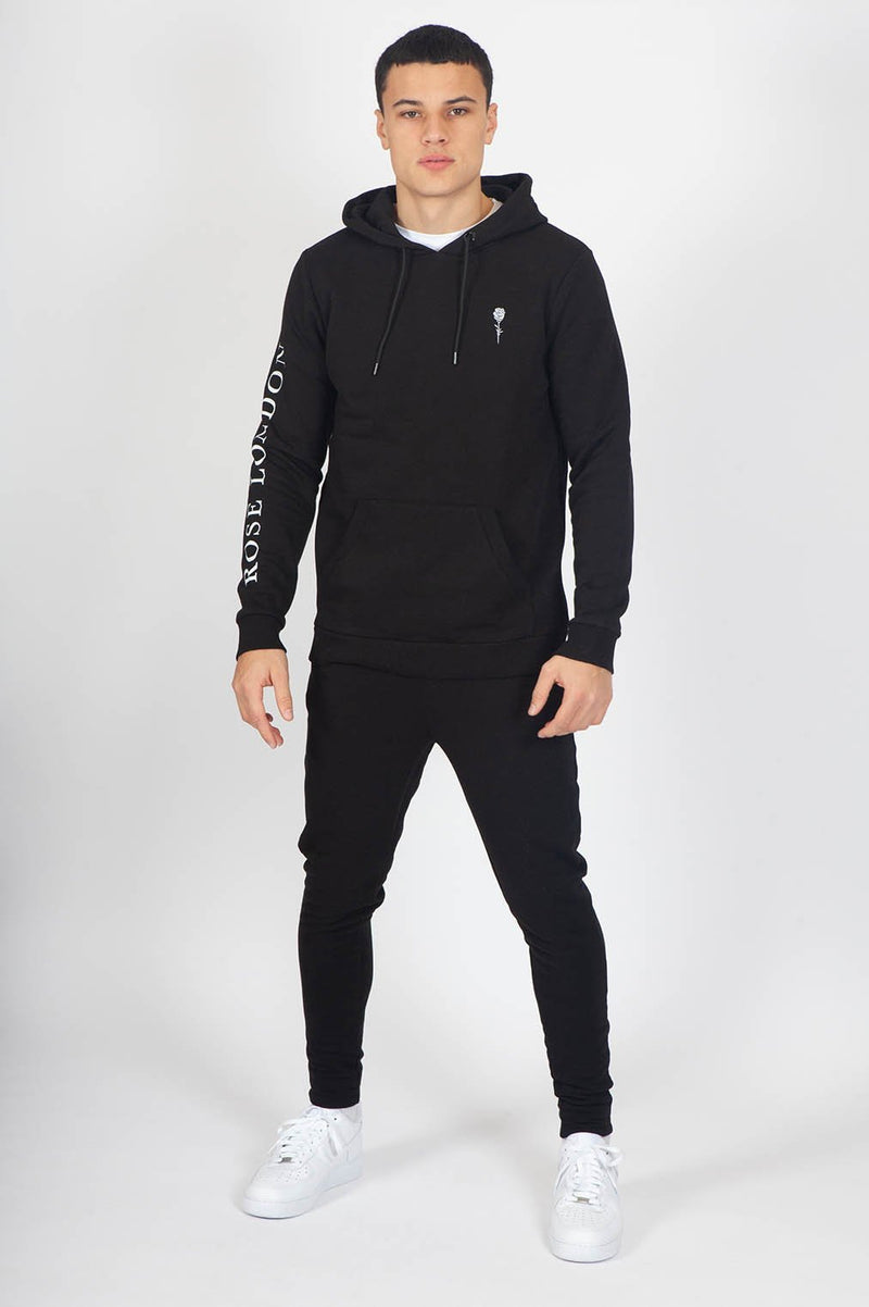 Stretch Sweat Hoodie - Black - Rose London