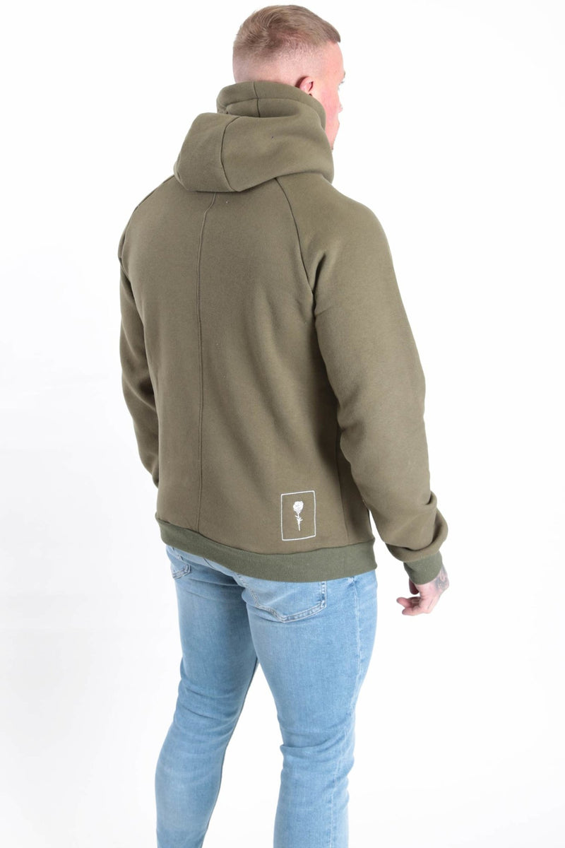 Triple Fade Hood Khaki - Rose London