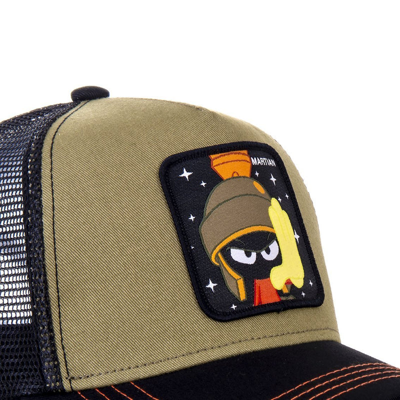 TRUCKER CAP CAPSLAB LOONEY TUNES MARVIN THE MARTIAN KHAKI - Rose London